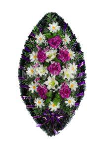 Венок ритуальный на похороны серия «простой» №8